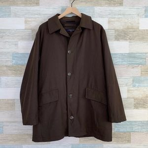 Corneliani Button Front Car Coat Brown